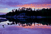 Middle Lake reflection at sunset<br />