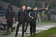 Manager John Hughes and ass Manager Richard Brittain of Ross County pointing in same direction during the Scottish Premiership match between Ross County FC and St Mirren FC at the Global Energy Stadium, Dingwall, Scotland on 26 December 2020
