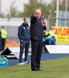 Falkirk's manager Peter Houston. Falkirk 2 v 1 Dunfermline, Scottish Championship game played 15/10/2016, at The Falkirk Stadium.