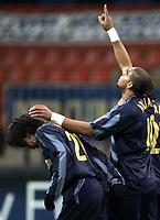 Milan 23-11-2005<br /> Inter Artmedia Bratislava <br /> Champions League 2005-2006<br /> nella  foto  esultanza per il secondo gol di Adriano<br /> Foto Snapshot / Graffiti