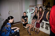 DONNA MCPHAIL; LUCY J. VERA G. QUENTIN JONES. Vogue Fantastic  Fashion Fantasy Party in association with  Van Cleef and Arpels and to celebrate Vogue's secret address book. 1 Marylebone Rd. London. 3 November 2008 *** Local Caption *** -DO NOT ARCHIVE -Copyright Photograph by Dafydd Jones. 248 Clapham Rd. London SW9 0PZ. Tel 0207 820 0771. www.dafjones.com