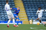 Stephen Dooley shoots during the EFL Sky Bet League 1 match between Rochdale and Coventry City at Spotland, Rochdale, England on 9 February 2019.