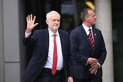 Labour leader Jeremy Corbyn arriving to take part in BBC1's Question Time Special presented by David Dimbleby from the campus of the University of York.