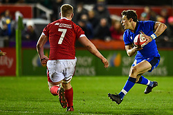 Paolo Garbisi of Italy in action <br /> <br /> Photographer Craig Thomas/Replay Images<br /> <br /> U20 Six Nations - Wales v Italy  - Friday 31st January 2020 - Stadiwm Zip World (Parc Eirias) - Colwyn Bay<br /> <br /> World Copyright © Replay Images . All rights reserved. info@replayimages.co.uk - http://replayimages.co.uk
