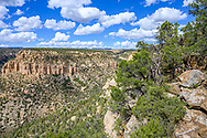 A view from the Petroglyph Point Trail Mesa Verde National Park in Colorado.
