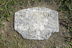 23 September 2017:  Levi & Lizzie Rhodes. West Union Cemetery is located on the north side of Illinois Rt 9 between Danvers and Mackinaw.  It is located within McLean County