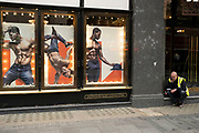 Posters of shirtless male dancers in the windows of the Hippodrome Casino in Leicester Square on 25th May 2021 in London, United Kingdom. The Hippodrome Casino has well & truly established itself as a cornerstone of West End life. The biggest & busiest casino in the UK, they are also London's most popular entertainment venue and have welcomed over 7 million visitors since opening in 2012.