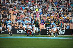 August 25, 2018. Malvinas Argentinas Stadium, Mendoza, Argentina.<br /> SIYA KOLISI breaks the argentine defense during the first half of the game.