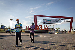 JOHANNESBURG, April 17, 2020  Pedestrians are seen on the street in Johannesburg, South Africa, April 16, 2020..  South Africa's COVID-19 deaths jumped by 14 in 24 hours as the novel coronavirus sickened 99 more people, Health Minister Zweli Mkhize said on Thursday. .  The total number of COVID-19 cases in the country has reached 2,605, the minister said. (Photo by YeshielXinhua) (Credit Image: © Xinhua via ZUMA Wire)