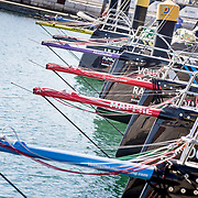 © Maria Muina I MAPFRE. Boats on the dock after their arrivals in Lisbon. Los barcos ya en los pantalanes tras su llegada a Lisboa.