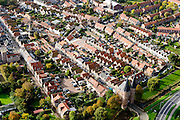 Nederland, Zeeland, Schouwen-Duiveland, 28-10-2014; Zierikzee met Nobelpoort.<br /> Zierikzee, located on the island of Schouwen, Zealand.<br /> luchtfoto (toeslag op standard tarieven); aerial photo (additional fee required); <br /> copyright foto/photo Siebe Swart