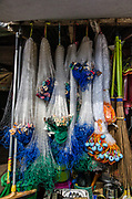 Gill Nets for sale<br /> Bos Wesen Market<br /> Sorong<br /> West Papua<br /> Indonesia<br /> Monofilament
