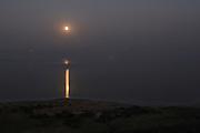 Israel, Dead Sea, Moon risers over the Dead Sea