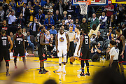 Golden State Warriors forward Draymond Green (23) celebrates a basket against the Houston Rockets at Oracle Arena in Oakland, Calif., on December 1, 2016. (Stan Olszewski/Special to S.F. Examiner)
