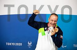 TOKYO, JAPAN - SEPTEMBER 02: Silver and bronze medalist Francek Gorazd Tirsek - Nani of Slovenia posing at photo shooting on day 9 of the Tokyo 2020 Paralympic Games at Paralympic Village on September 02, 2021 in Tokyo, Japan.  Photo by Vid Ponikvar / Sportida