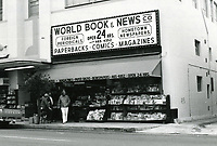 1978 World Book & News Co., on east side of Cahuenga Blvd., just south of Hollywood Blvd.