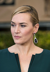 "October 15, 2017 - Los Angeles, California, United States of America - Kate Winslet disclosed that she did not thank Harvey Weinstein on purpose in her 2009 Oscars speech for the ""The Reader"" on Sunday October 15, 2017. FILE PHOTO: Kate Winslet at the red carpet of the 22nd Annual Screen Actors Guild Awards held at the Shrine Auditorium in Los Angeles, California, Saturday, January 30, 2016. JAVIER ROJAS/PI (Credit Image: © Prensa Internacional via ZUMA Wire)"