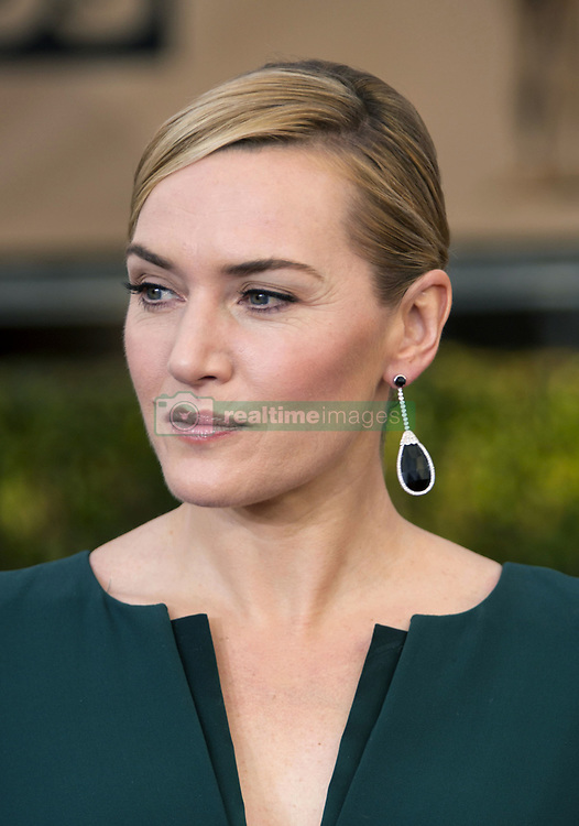 """October 15, 2017 - Los Angeles, California, United States of America - Kate Winslet disclosed that she did not thank Harvey Weinstein on purpose in her 2009 Oscars speech for the """"The Reader"""" on Sunday October 15, 2017. FILE PHOTO: Kate Winslet at the red carpet of the 22nd Annual Screen Actors Guild Awards held at the Shrine Auditorium in Los Angeles, California, Saturday, January 30, 2016. JAVIER ROJAS/PI (Credit Image: © Prensa Internacional via ZUMA Wire)"""