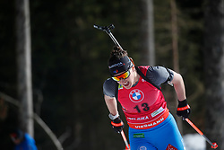 Simon Julia of France competes during the IBU World Championships Biathlon 12,5 km Mass start Women competition on February 21, 2021 in Pokljuka, Slovenia. Photo by Vid Ponikvar / Sportida