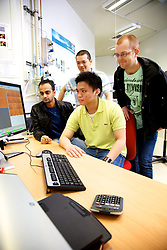 Infrared Beamline, Australian Synchrotron.   User group at microscope and computers