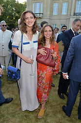 MARY CLARE ELLIOT and AYESHA SHAND  at the Quintessentially Foundation and Elephant Family 's 'Travels to My Elephant' Royal Rickshaw Auction presented by Selfridges and hosted by HRH The Prince of Wales and The Duchess of Cornwall held at Lancaster House, Cleveland Row, St.James's, London on 30th June 2015.