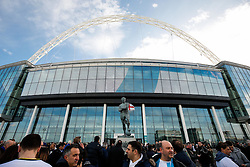 General View of fans anf the Bobby Moore Statue outside Wembley Stadium - Photo mandatory by-line: Rogan Thomson/JMP - 07966 386802 - 01/03/2015 - SPORT - FOOTBALL - London, England - Wembley Stadium - Chelsea v Tottenham Hotspur - Capital One Cup Final.