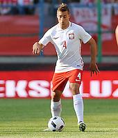 2016.06.06 Krakow <br /> Pilka Nozna Reprezentacja Mecz towarzyski<br /> Polska - Litwa<br /> N/z Thiago Cionek<br /> Foto Rafal Rusek / PressFocus<br /> <br /> 2016.06.06 Krakow Poland<br /> Football Friendly Game<br /> Poland - Lithuania<br /> Thiago Cionek<br /> Credit: Rafal Rusek / PressFocus