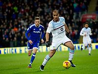 Football - 2016 / 2017 Championship - Cardiff City vs. Aston Villa<br /> <br /> Gabby Agbonlahor of Aston Villa attacks --, at Cardiff City Stadium.<br /> <br /> COLORSPORT/WINSTON BYNORTH