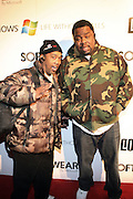 l to r: Cool V and Biz Markie at the Common Celebration Capsule Line Launch with Softwear by Microsoft at Skylight Studios on December 3, 2008 in New York City..Microsoft celebrates the launch of a limited-edition capsule collection of SOFTWEAR by Microsoft graphic tees designed by Common. The t-shirt  designs. inspired by the 1980's when both Microsoft and and Hip Hop really came of age, include iconography that depicts shared principles of the technology company and the Hip Hop Star.