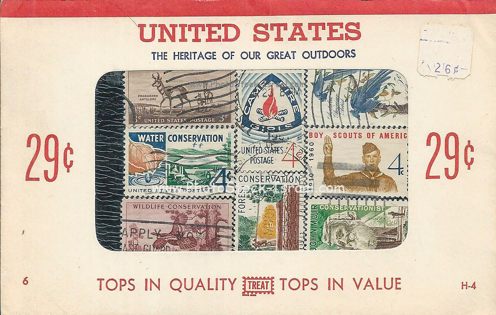 Collector Stamp Packets in the Nineteen Fifties for 29cents