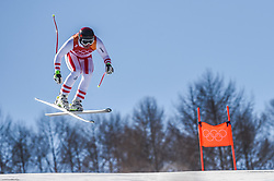 February 15, 2018 - Jeongseon, Gangwon, South Korea - Johan Clarey of  France competing in mens downhill at Jeongseon Alpine Centre at Jeongseon , South Korea on February 15, 2018. (Credit Image: © Ulrik Pedersen/NurPhoto via ZUMA Press)