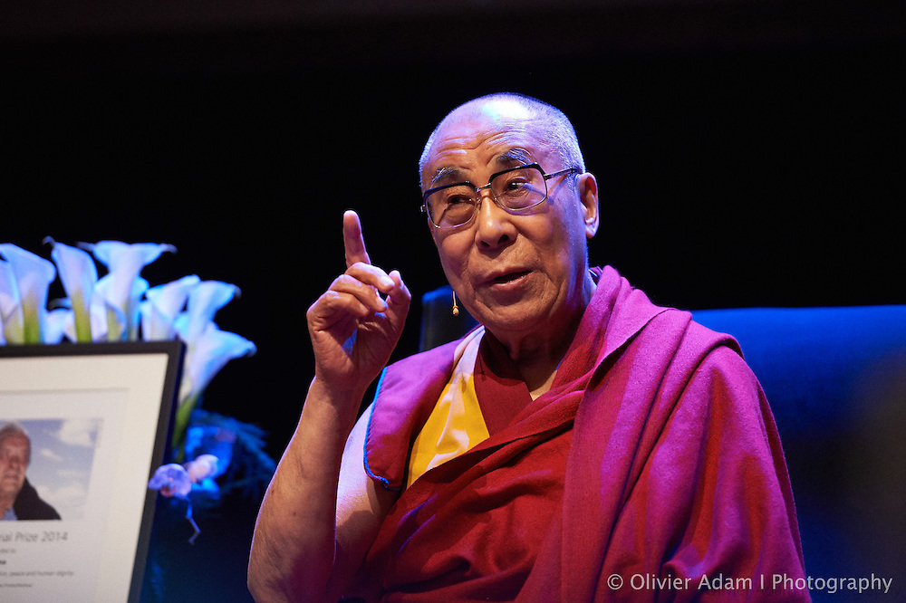 Conference on the theme of how to live compassion in our daily life. Dalai Lama