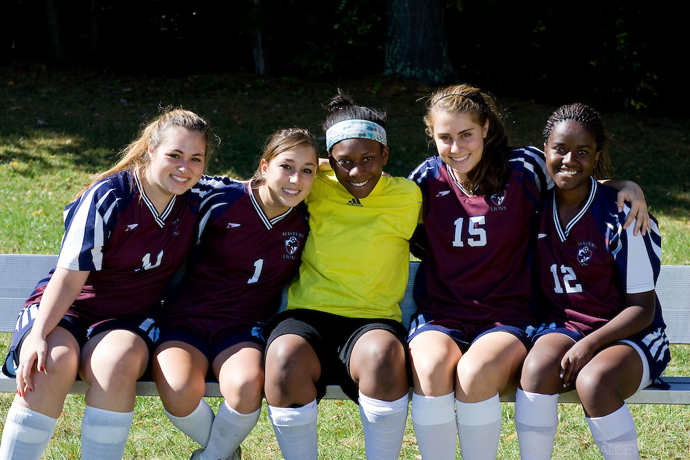 The Master's School, West Simsbury, CT. 2010-2011. Girls Varsity soccer captains.  (Photo by Robert Falcetti). .