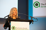 The head teacher of St Columb Minor school speaking at the 2010 Ashden Awards ceremony at the Royal Geographic Society.
