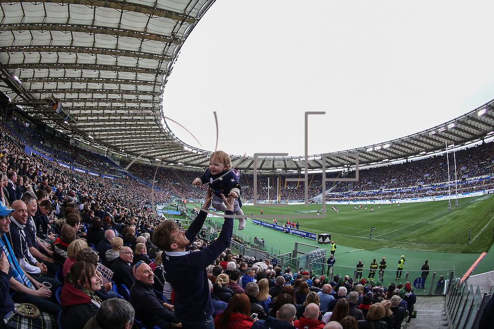 Stadio Olimpico, Rome, Italy 27/2/2016<br /> RBS 6 Nations 2016 : Italia vs Scozia<br /> lo Stadio Olimpico
