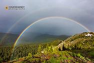 Double Rainbow on Werner Peak, Stillwater State Forest, Montana, USA