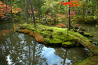 The Moss Garden at Saihoji Temple is one of the few temples in Kyoto where visitors must request an invitation in advance before their visit. Visitors are required to participate in chanting and writing wishes before visiting the famous gardens. In this way the monks are able to maintain the temple and garden and prevent mass tourism from destroying the tranquility of the moss garden.