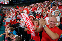 23-09-2019 NED: EC Volleyball 2019 Poland - Germany, Apeldoorn<br /> 1/4 final EC Volleyball - Poland win 3-0 / Support fan Poland