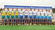 Poznan, POLAND, left to right, Silver Medalist AUS M4-,   Gold Medalist GBR M4- Bow Alex PARTRIDGE, Ric EGINGTON, Alex GREGORY and Matt LANGRIDGE, and SLO M4- in the men's fours at the 2009 FISA World Rowing Championships. held on the Malta Rowing lake, Saturday  29/08/2009  [Mandatory Credit. Peter Spurrier/Intersport Images]