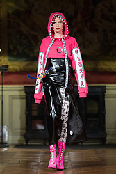 Model walks on the runway during BIG-KING fashion show during Select Fashion Awards at Musée Jacquemart-Andre during Spring/Summer 2018 ready to wear collection in Paris, France, October 01 2017. Photo by Nasser Berzane/ABACAPRESS.COM