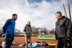 Luka Zinko, Dejan Mocnik and Mihael Obrez during first practice session of NK Bravo before the spring season of Prva liga Telekom Slovenije 2020/21, on January 5, 2021 in Sports park ZAK, Ljubljana Slovenia. Photo by Vid Ponikvar / Sportida