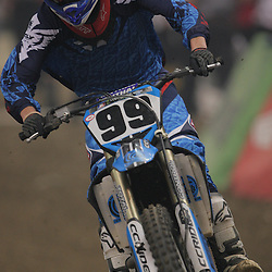 14 March 2009: Jase Lewis (99) rides in a qualifying heat during the Monster Energy AMA Supercross race at the Louisiana Superdome in New Orleans, Louisiana