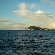 Islands in the open sea.