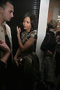 Thandie Newton, Pop Magazine, 15th issue birthday party. Spring Studios Gallery, Spring Place, London, NW5 15 February 2007.  -DO NOT ARCHIVE-© Copyright Photograph by Dafydd Jones. 248 Clapham Rd. London SW9 0PZ. Tel 0207 820 0771. www.dafjones.com.