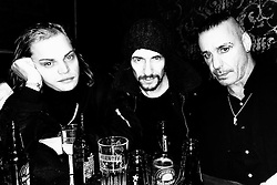 """Thomas Hayo releases a photo on Instagram with the following caption: """"Lords of Chaos! @lindemannofficial @rammsteinofficial @willywonkaweinhaus #aboutlastnight \ud83d\udcf7 @jonasakerlund @lordsofchaosthemovie"""". Photo Credit: Instagram *** No USA Distribution *** For Editorial Use Only *** Not to be Published in Books or Photo Books ***  Please note: Fees charged by the agency are for the agency's services only, and do not, nor are they intended to, convey to the user any ownership of Copyright or License in the material. The agency does not claim any ownership including but not limited to Copyright or License in the attached material. By publishing this material you expressly agree to indemnify and to hold the agency and its directors, shareholders and employees harmless from any loss, claims, damages, demands, expenses (including legal fees), or any causes of action or allegation against the agency arising out of or connected in any way with publication of the material."""