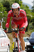France, Talloire, 23 July 2009: Christophe Kern (Fra) Cofidis, Le Credit en Ligne on the Côte de Bluffy during Stage 18 - a 40.5 km Annecy to Annecy individual time trial. Photo by Peter Horrell / http://peterhorrell.com .