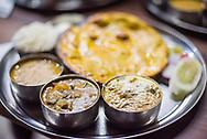 Thali, a traditional food of India, Varanasi, Uttar Pradesh, India
