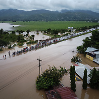 The end of the road. The main highway between San Pedro Sula and Tegucigalpa at Tres Reyes, Pimienta was flooded during hurricane Iota, the water came at 2am, a lot of people were prepared, but flash flooding caught many by surprise and they lost all their belongings.