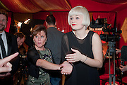 LUCY MARY BARKER; IMELDA STAUNTON, Party after the press night opening of 'Sweeney Todd: The Demon Barber of Fleet Street' at Adelphi Theatre, London. Floridita. Wardour St. 20 March 2012.