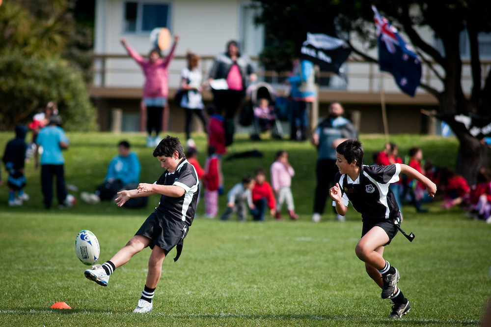 Coverage of the Porirua Rugby Nations Tournament on Wednesday 21 September, 2011. From 1-3pm. ..Photo by Mark Tantrum   www.marktantrum.com